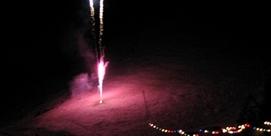 Arrivée du Père Noël et feux d'artifices
