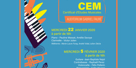 Projets personnels du Certificat d'Etudes Musicales