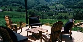 Casa de huéspedes, toda en madera, en el valle de Neste