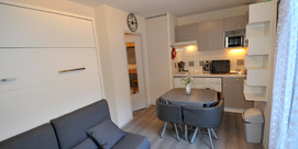 Studio cabine 2/5 personnes à Barèges