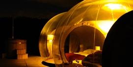 Nuit magique dans une bulle tout confort sur le toit des PYRENEES