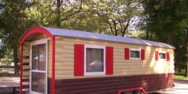 Chalets dans camping familial à Capvern les Bains