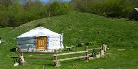 A weekend in a yurt