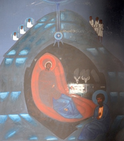 3-Lourdes-Eglise-ukrainienne-Fresque-Nativite.JPG